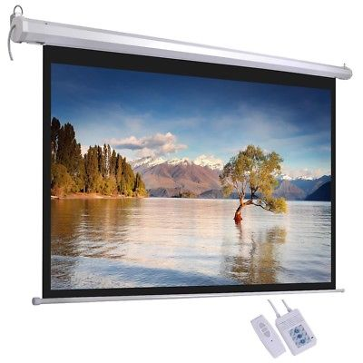 Electric-Motorized-HD-Projector-72-034-Screen-16-9-Wall-Ceiling-Home-Theater-L9V2C thumbnail 7