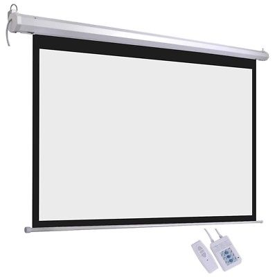 Electric-Motorized-HD-Projector-72-034-Screen-16-9-Wall-Ceiling-Home-Theater-L9V2C thumbnail 2