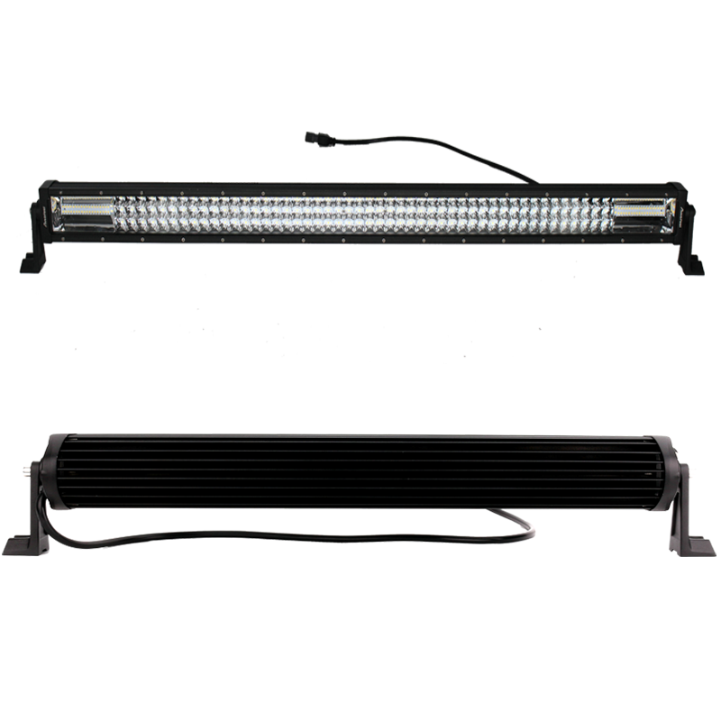 42Inch 42'' 3360W TRI- ROW LED Work Light Bar Combo Beam White Amber Fit K3A1J 2