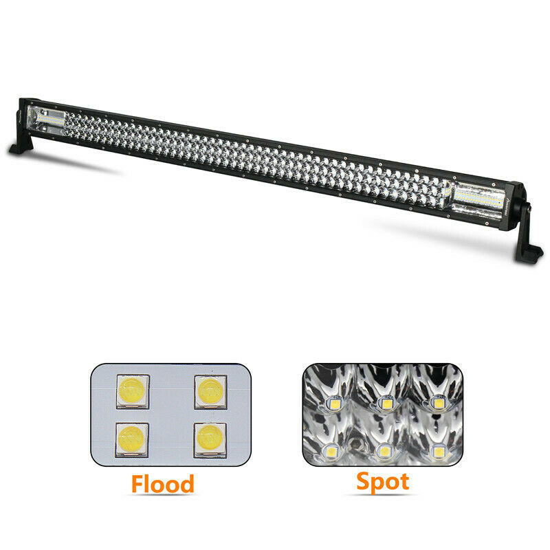 42Inch 42'' 3360W TRI- ROW LED Work Light Bar Combo Beam White Amber Fit K3A1J